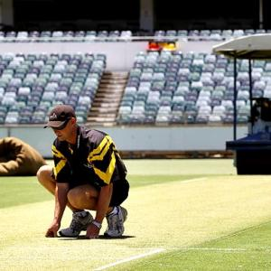 Team India back in the nets at 'green' WACA