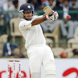 Pujara first Indian to hit 200 in first match vs England