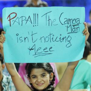 IPL PHOTOS: Get the message from the stands
