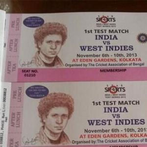 First look: Sachin face painted on tickets of Eden Test