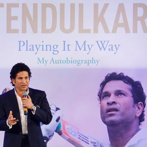 Sachin Tendulkar unveils his autobiography 'Playing it My Way'