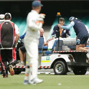 Cricket world in shock over Phil Hughes' injury