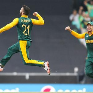 Duminy claims SA's first World Cup hat-trick
