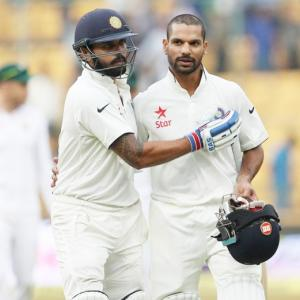 Dhawan's return to form India's biggest gain from Bengaluru Test!