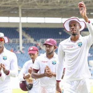 PHOTOS: Rain gives West Indies lifeline against dominant India