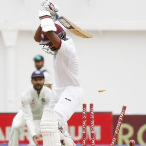 PHOTOS: India sniff victory as Windies collapse again