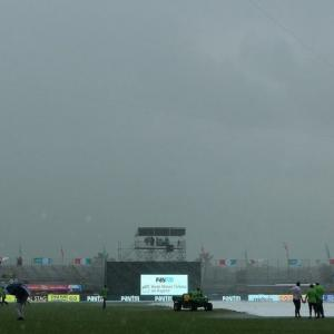 2nd T20 PHOTOS: Rain denies India chance to level series vs WI