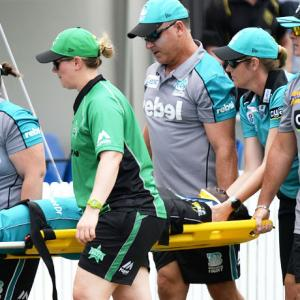 Women's BBL star Dottin hospitalised after on-field head clash