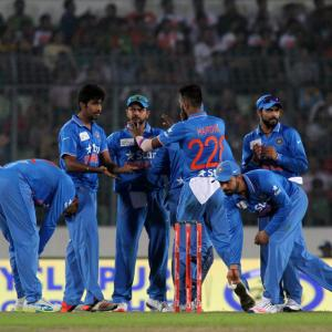 PHOTOS: Rohit shines as India crush Bangladesh in Asia Cup opener