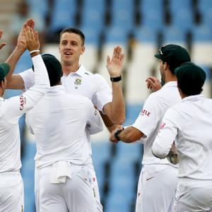 Rabada's double strike gives South Africa sight of victory