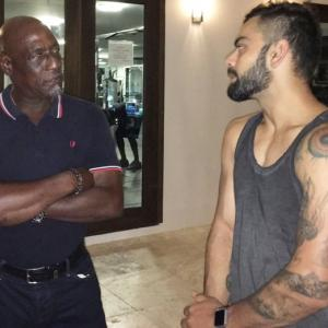PHOTOS: When Kohli and Co met Viv Richards