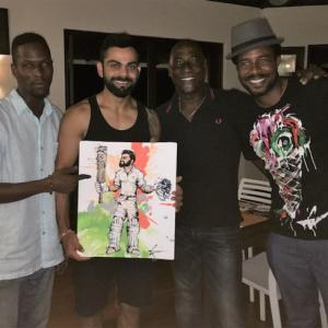 A special gift for India captain Kohli from Viv Richards's son!