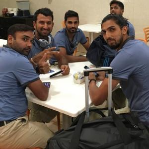 PHOTOS: Upbeat Team India in Kingston for second Test