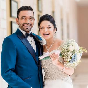 PHOTOS: Robin Uthappa marries longtime girlfriend Sheethal Goutham