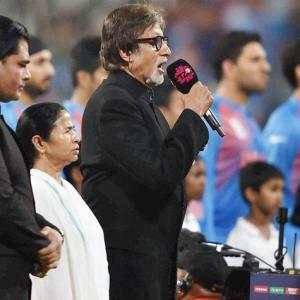 India v Pak: Amitabh Bachchan sings national anthem at Eden Gardens
