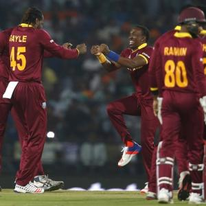 PHOTOS: West Indies edge past South Africa to enter WT20 semis