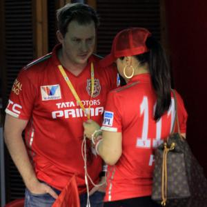 PHOTOS: Preity brings hubby to stadium; Morrison gets flak