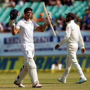 PHOTOS: England frustrated as India hold out to draw Rajkot Test