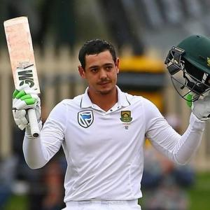 2nd Test: De Kock ton puts SA in command vs Australia