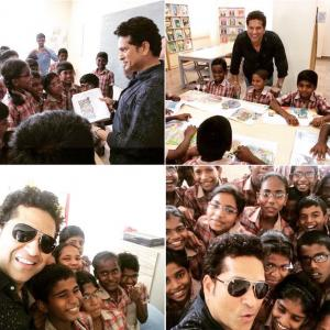 Sachin visits adopted village, calls for clean, healthy India
