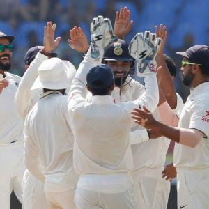 PHOTOS: India trounce England by 246 runs to take 1-0 lead