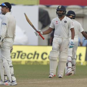 2nd Test PHOTOS: Rohit special puts India in command against NZ