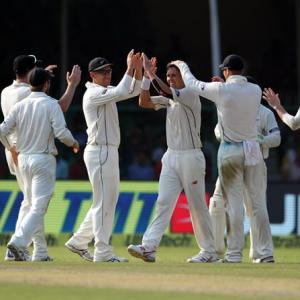PHOTOS: Santner, Boult lead New Zealand's fightback on Day 1
