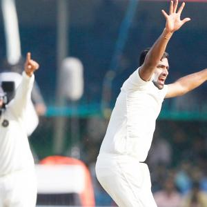 How Ashwin reacted after reaching another milestone...