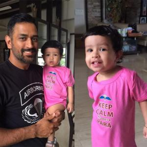 Dhoni's bonding with daughter Ziva and it's melting lots of hearts...