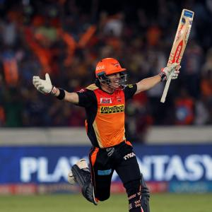 PHOTOS: Warner blasts century as Sunrisers destroy KKR