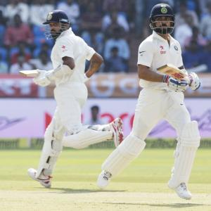 PHOTOS, One-off Test: India make Bangladesh chase leather
