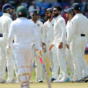 PHOTOS, one-off Test: Ashwin, Jadeja keep India on course for victory