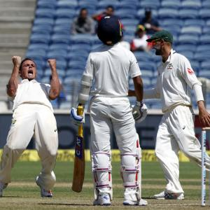 PHOTOS: Australia in command after India's batting flops on Day 2