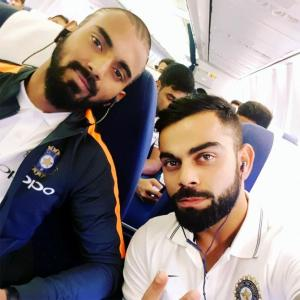 PHOTOS: Team India in selfie mode after flight delayed