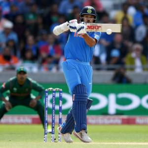 Dhawan becomes India's highest run-scorer in Champions Trophy history