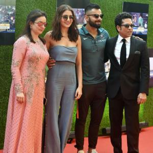 PHOTOS: Team India, Virat-Anushka, Big B, SRK grace Sachin Tendulkar movie premiere