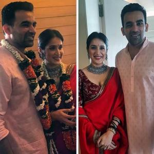 PICS: Zaheer ties the knot with Sagarika in Mumbai