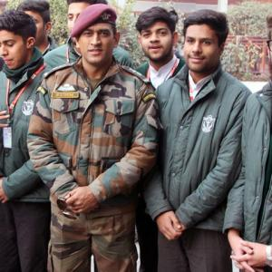 PHOTOS: Dhoni interacts with students at DPS Srinagar