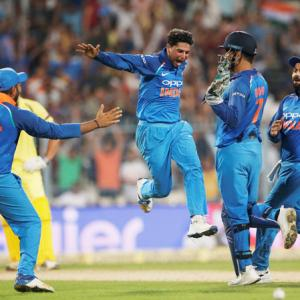 Had the delivery spun in, I wouldn't have got the hat-trick: Kuldeep
