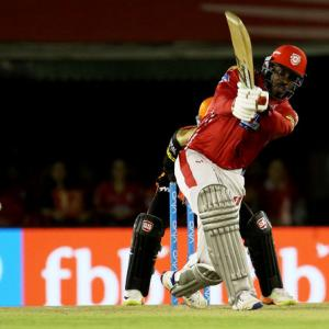 IPL PHOTOS: Gayle ton helps KXIP hand Hyderabad first loss this season
