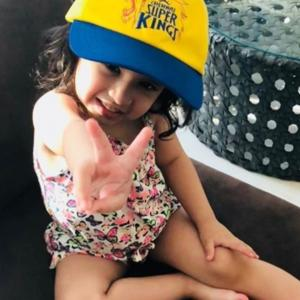 PIX: Dhoni's little daughter is stealing the show at IPL