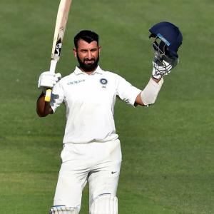 PHOTOS: Pujara rescues India with fighting century