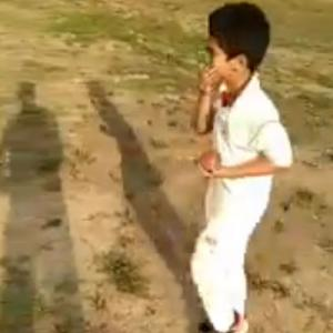 WATCH: 7-year-old spinner from Kashmir leaves Warne in a spell