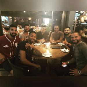 Kohli and friends celebrate T20I win with dinner