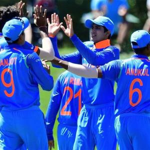PIX: India thrash Pak by 203 runs to storm into U-19 World Cup final