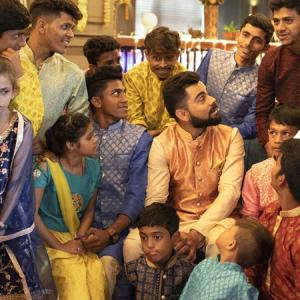 How Kohli celebrated Diwali