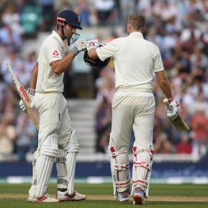 PICS: England have India reeling after Cook, Root show