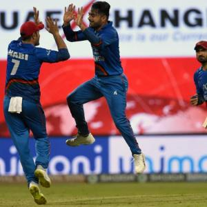 PHOTOS: Rashid helps Afghanistan pull-off thrilling tie against India