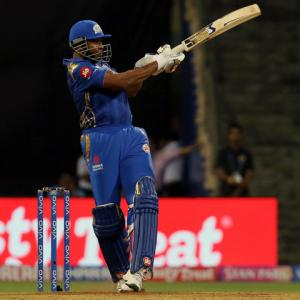 PHOTOS: Pollard's late blast helps MI edge past Punjab