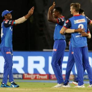 IPL PIX: Delhi bowlers bring sun down on Hyderabad